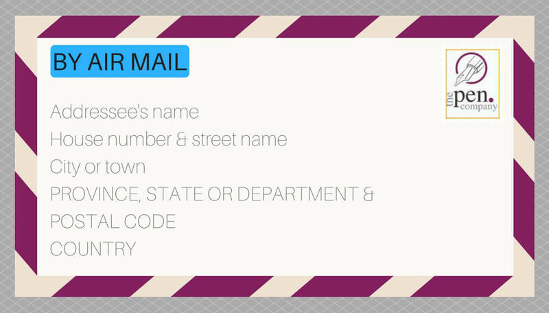 Addressed envelope for abroad
