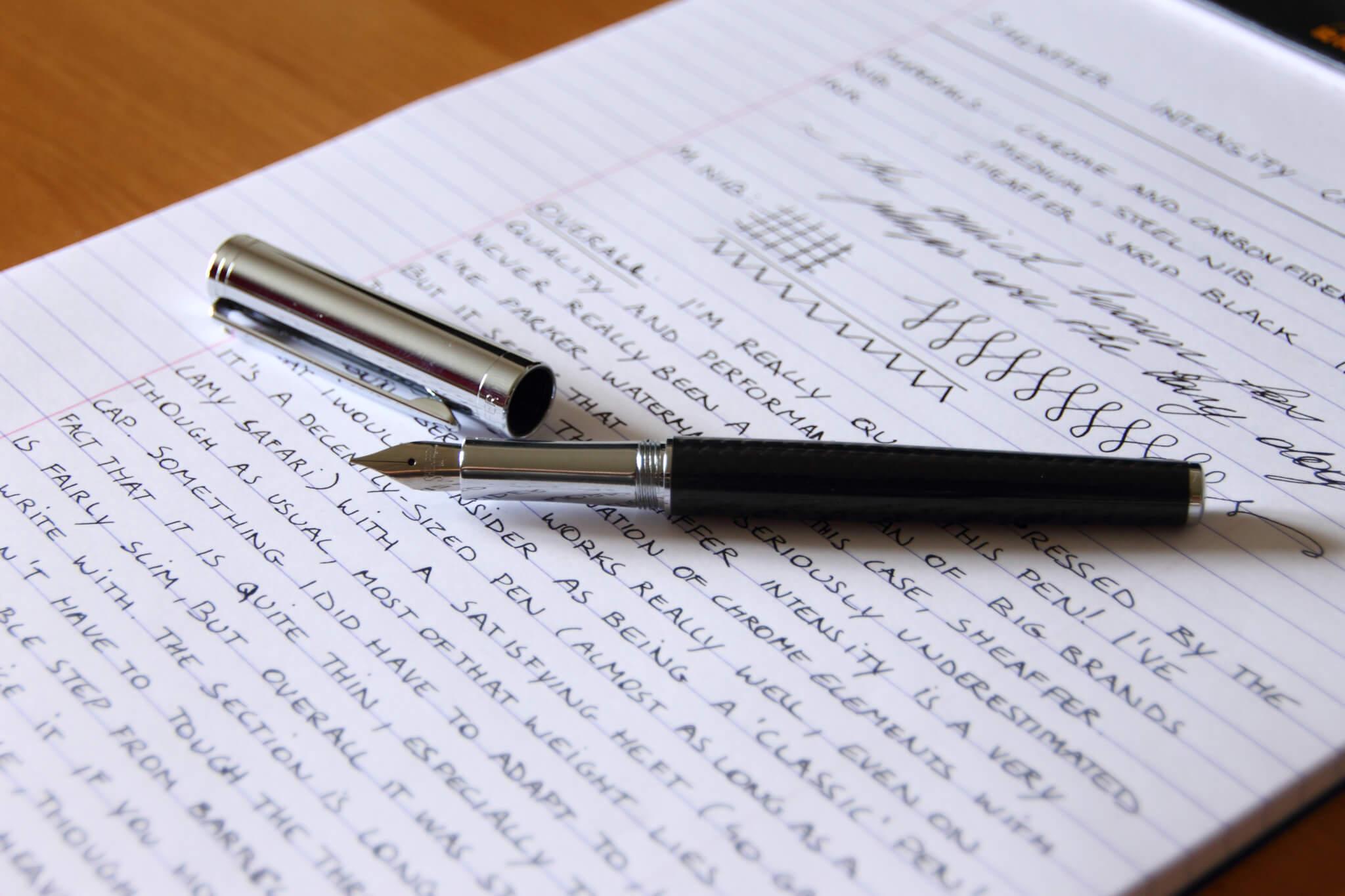 sheaffer intensity carbon fountain pen review