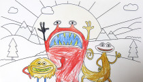 Dexter Newman – Age 6 – Colouring Competition Entry