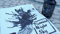 Diamine Shimmertastic Night Sky: Fountain Pen Ink Review