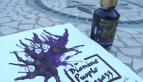 Diamine Shimmertastic Purple Pazzazz: Fountain Pen Ink Review