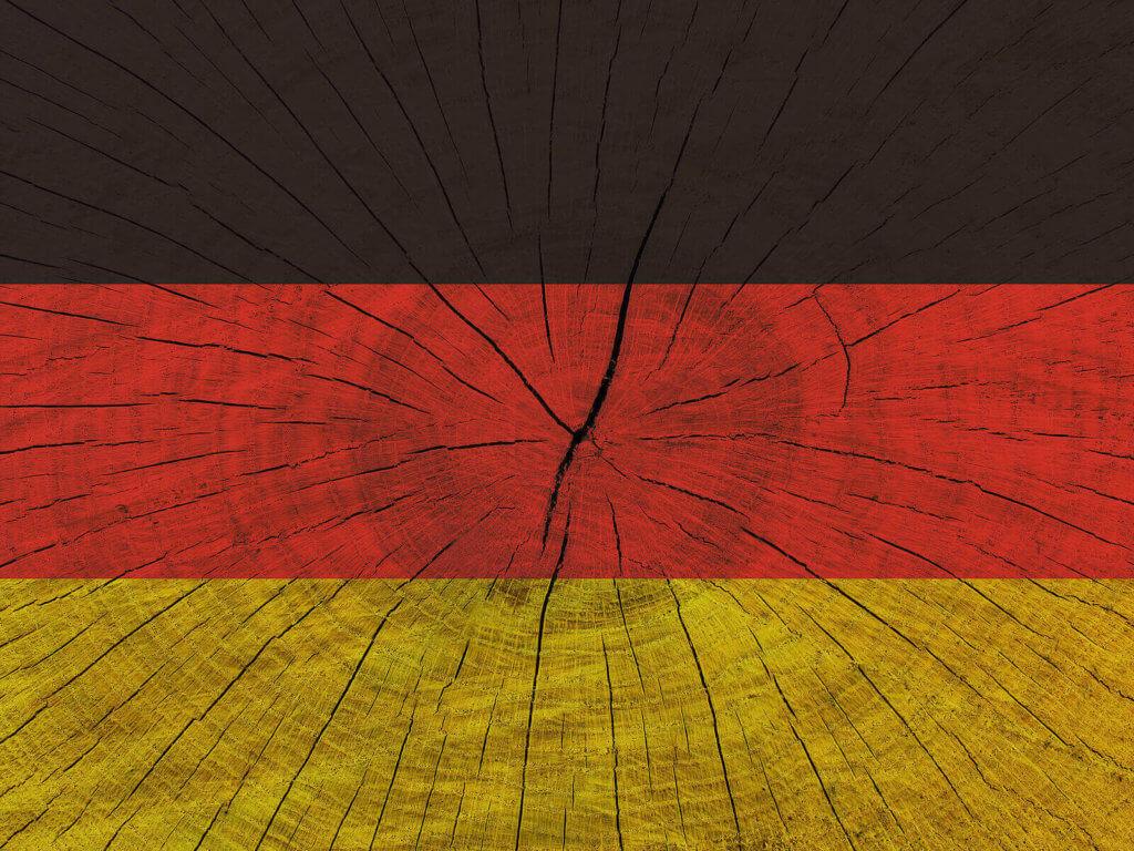 German flag on wood