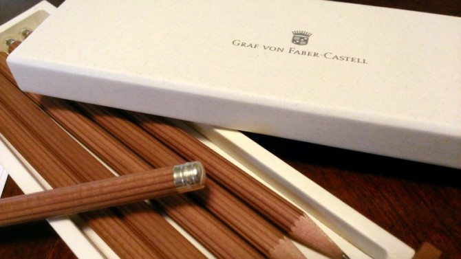 Brown Graf von Faber-Castell No.III Desk Pencils