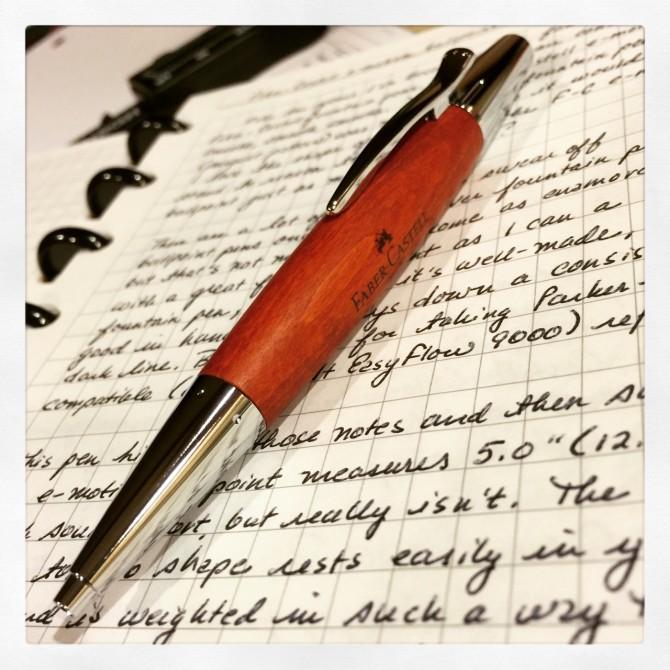 Faber-Castell E-Motion Pear Wood Ballpoint Pen Review