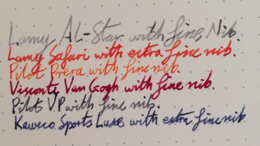 Lamy AL-Star Bluegreen Fountain Pen Writing Sample