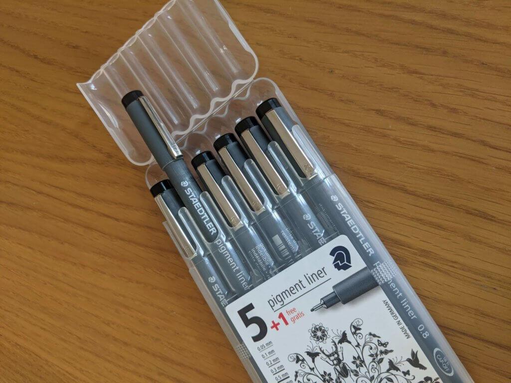 Pack of Staedtler Pigment Liner pens