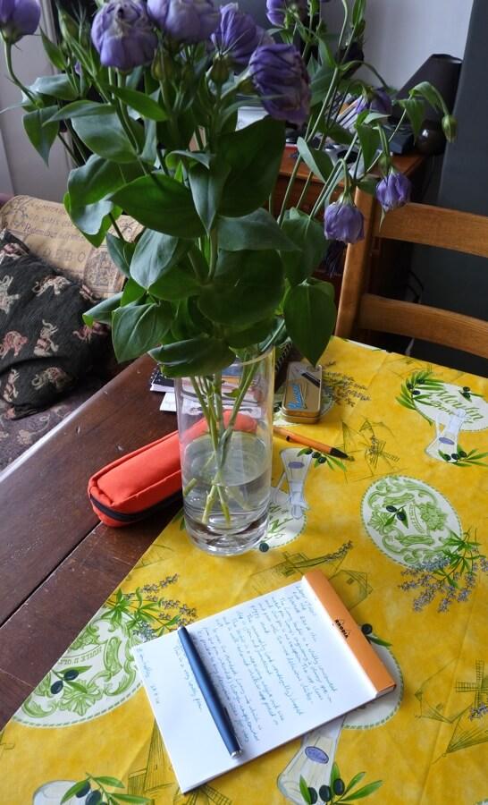 Lamy Studio fountain pen with flowers