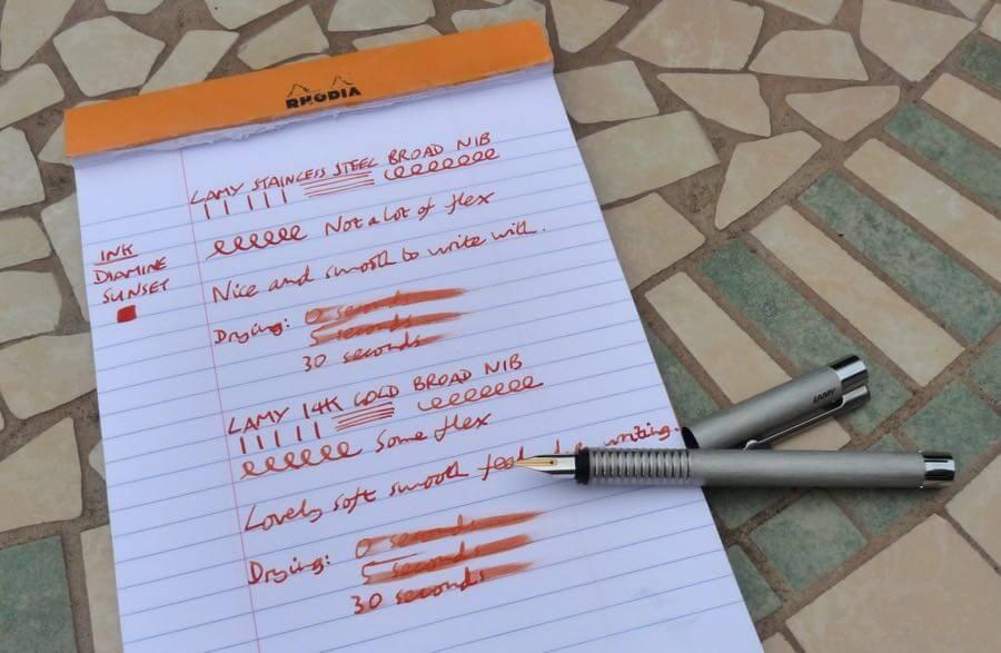 Lamy gold nib in pen