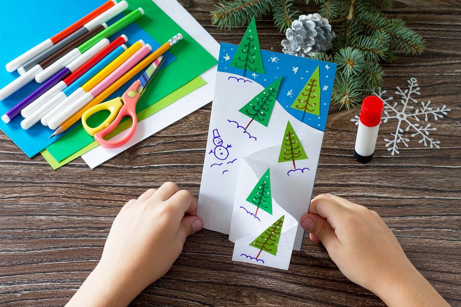 Making-Christmas-Card