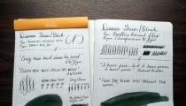 Diamine Green/Black Fountain Pen Ink Review