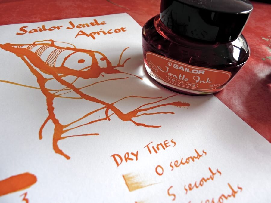 Sailor Apricot ink review