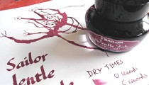 Sailor Jentle Apricot and Grenade inks