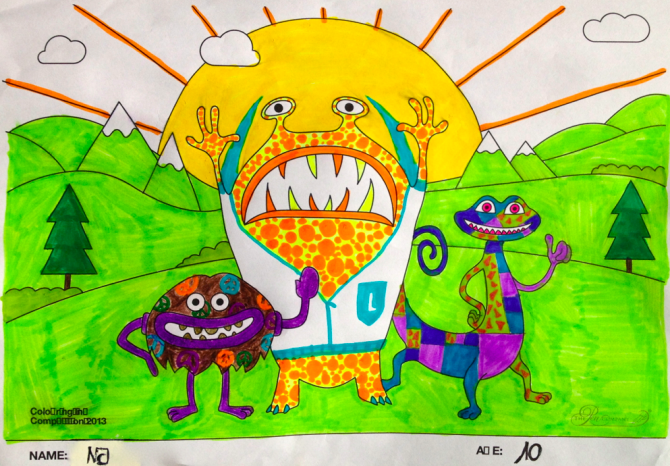 NJ – Age 10 – Colouring Competition Entry