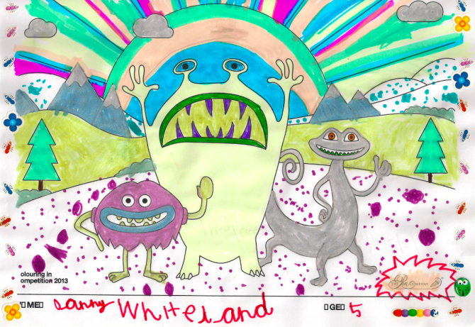 Danny Whiteland – Age 5 – Colouring Competition Entry