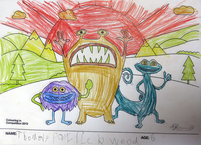 Thomas Portrickwood – Age 6 – Colouring Competition Entry