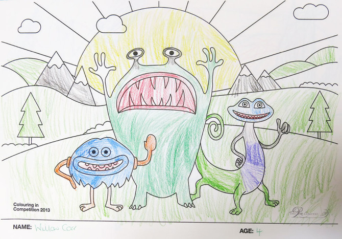 Willow Carr – Age 4 – Colouring Competition Entry