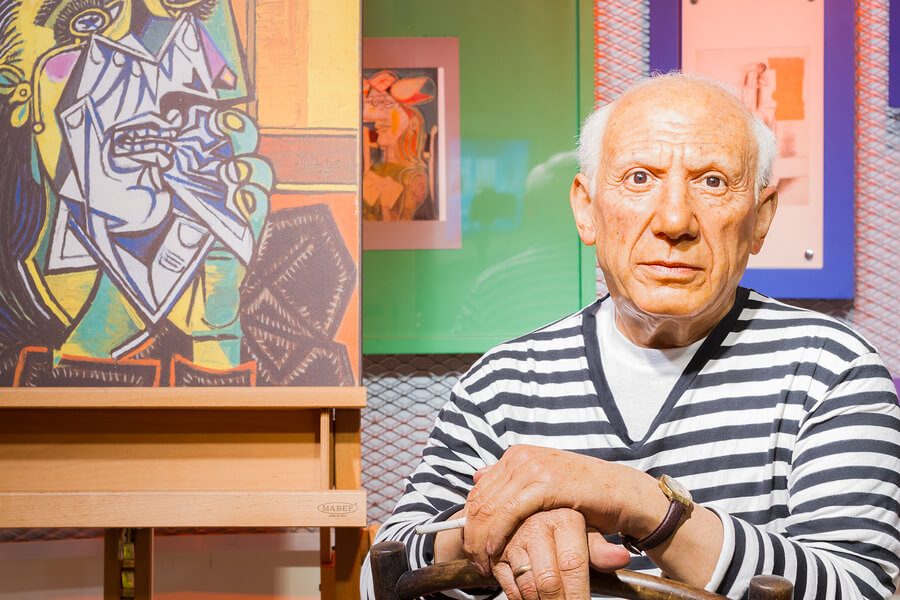 A wax work of Pablo Picasso