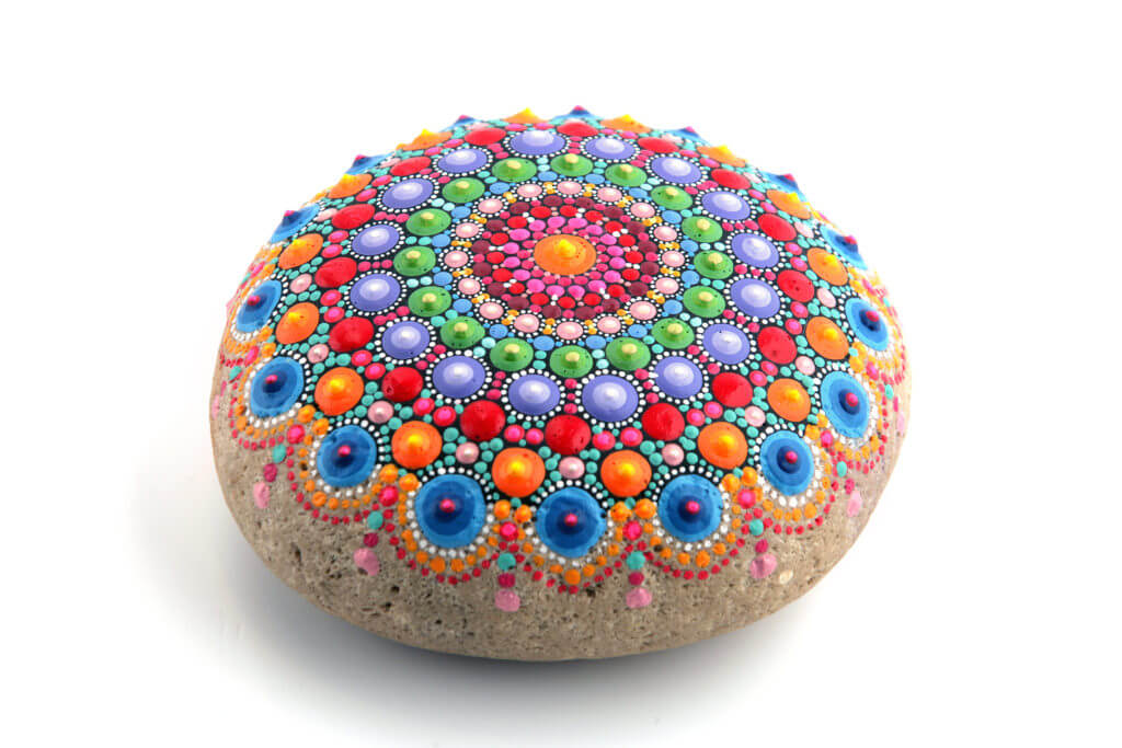 A painted rock