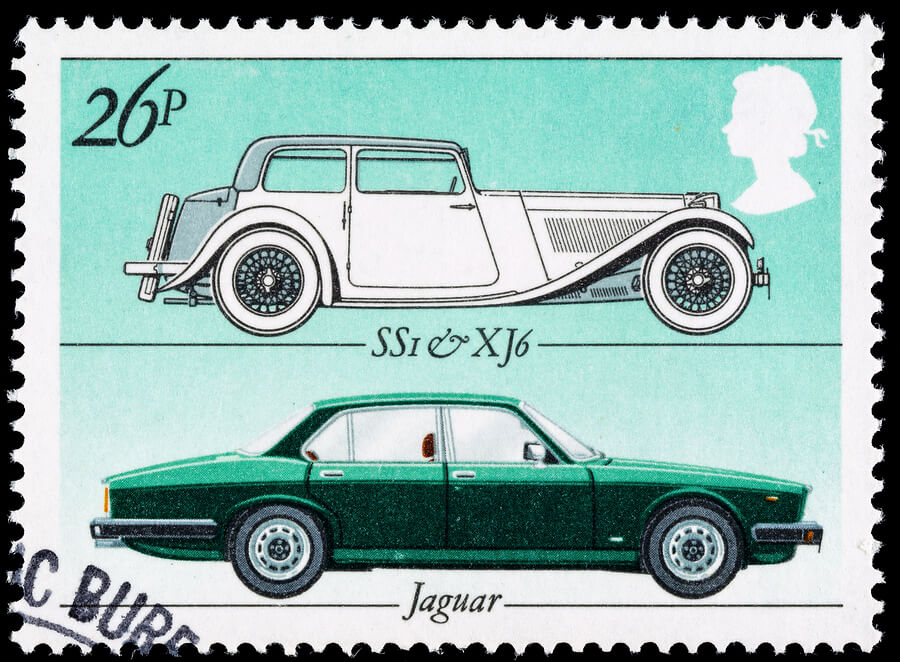 British Motor Car Postage Stamp
