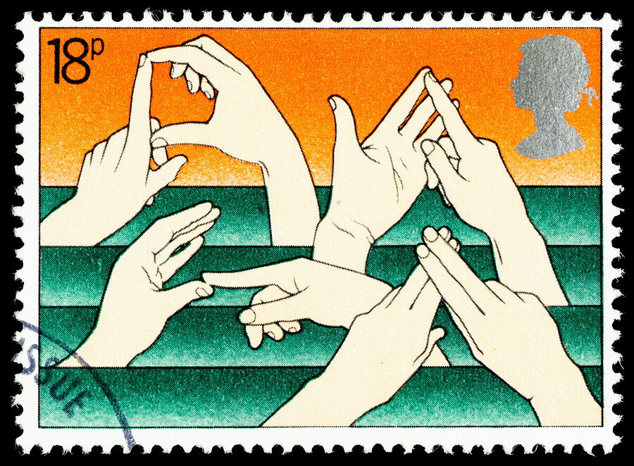 British Sign Language Postage Stamp