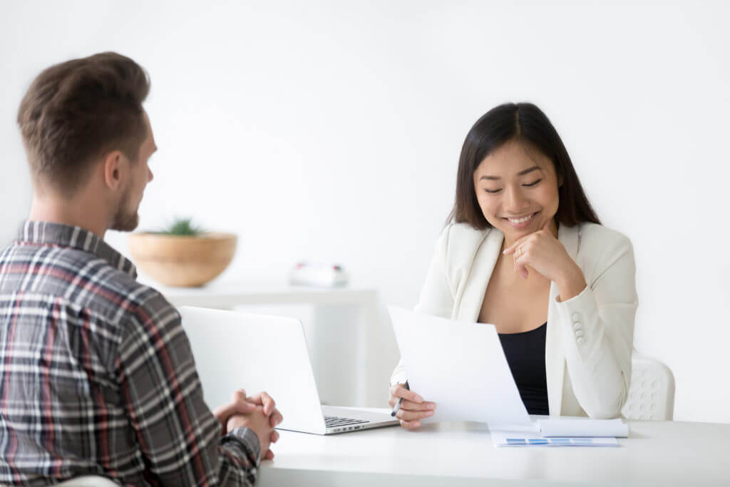 Job interview following the writing of a perfect cover letter
