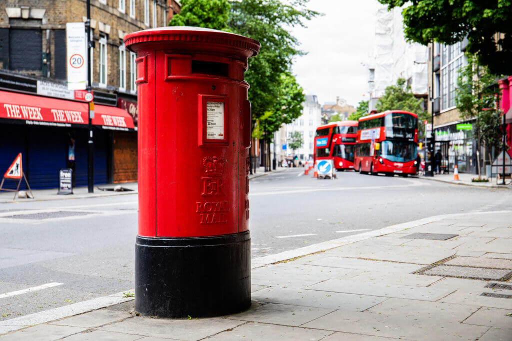Royal Mail postbox in London