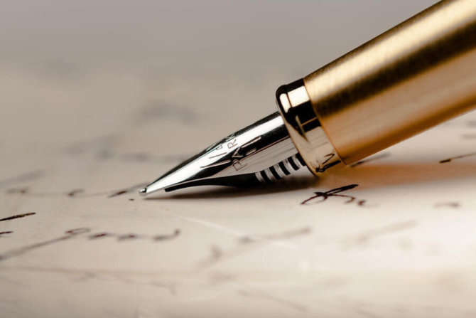 Five gold fountain pens you will love