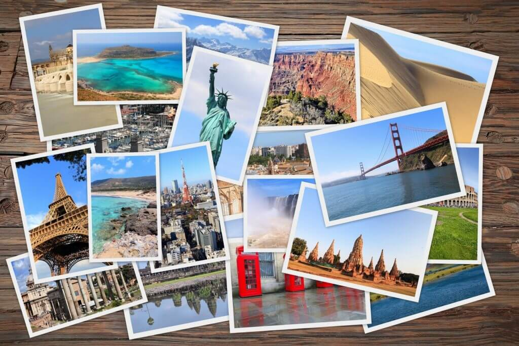 World postcards