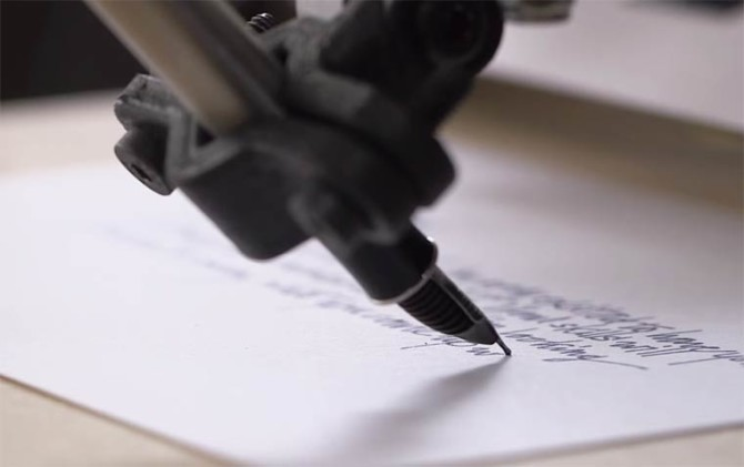 Robot Copies Handwriting Using a Fountain Pen!