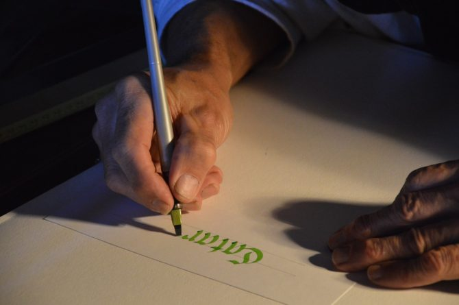 Why use calligraphy today?