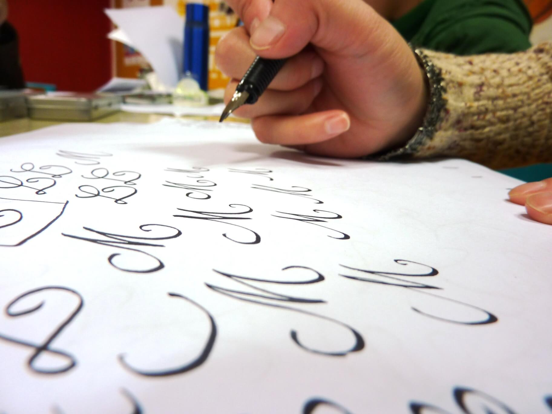 Calligraphy in action