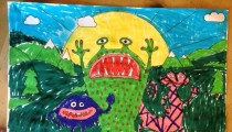 Finley Croome – Age 7 – Colouring Competition Entry
