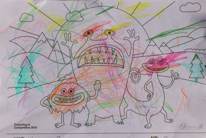 Florence Scott – Age 2 – Colouring-in Competition Entry