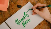 How to use Tombow brush pens for hand lettering