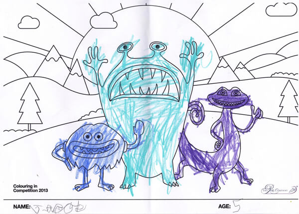 Jacob Procter – Age 5 – Colouring-in Competition Entry