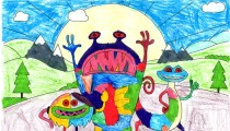 Jessica Croome – Age 5 – Colouring-in Competition Entry