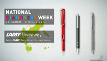 Win 1 of 3 Lamy Pens – National Stationery Week 2014