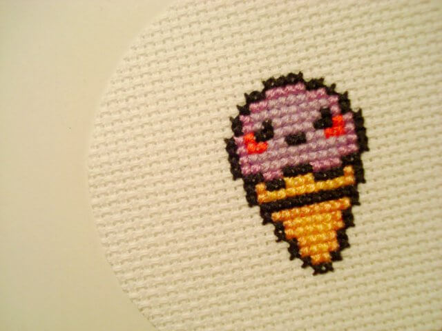 A mini cross stitch. Photo by stopsign (Flickr).