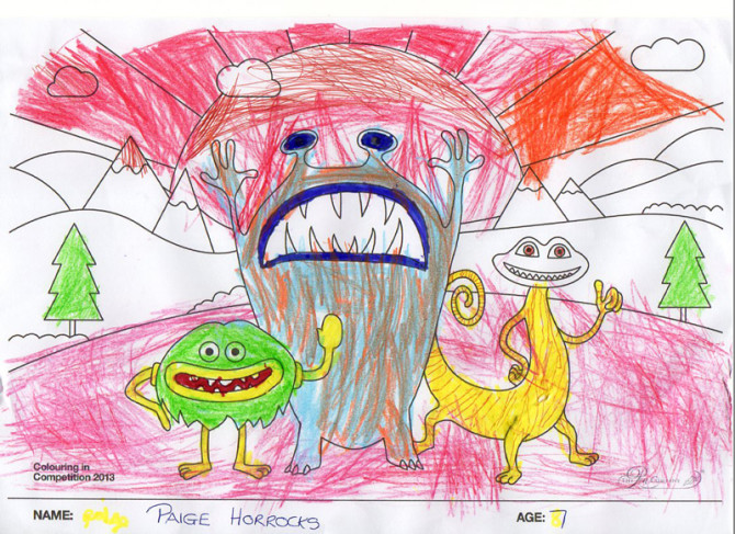 Paige Horrocks – Age 7 – Colouring Competition Entry