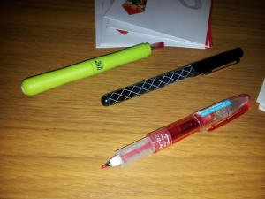 The 3 Pens I Received
