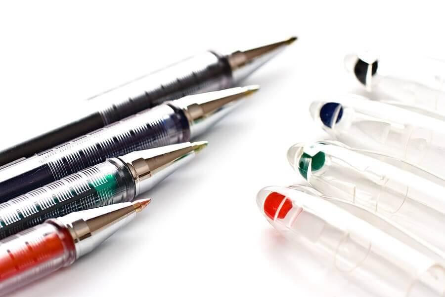 pens full of ink