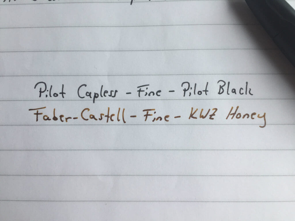 pilot capless fountain pen