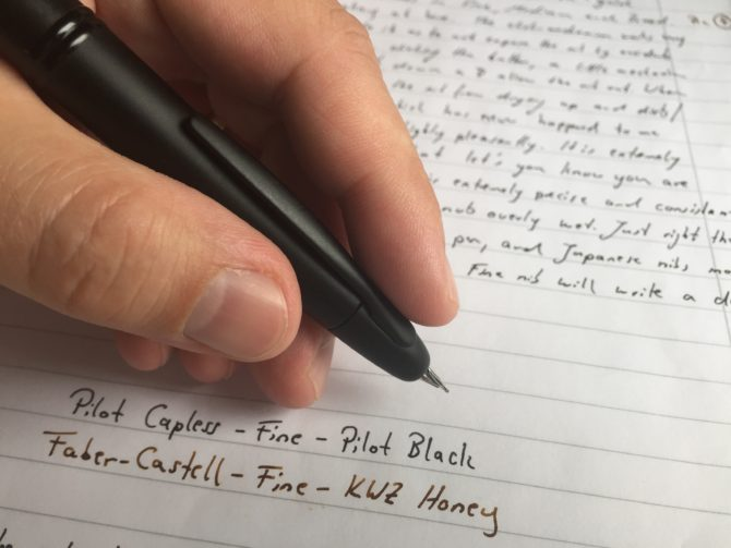 Pilot Capless Matte fountain pen review