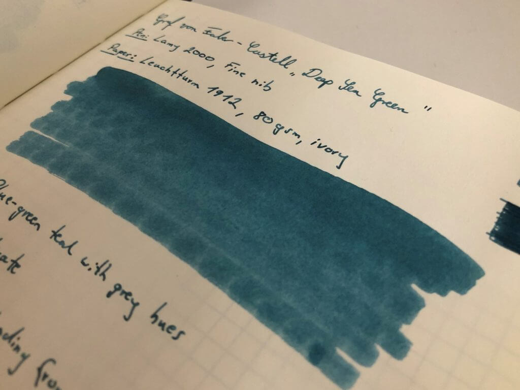 Ink in use