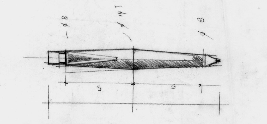 Hannes Wettstein's early sketch of the scribble (Image © Studio Hannes Wettstein)
