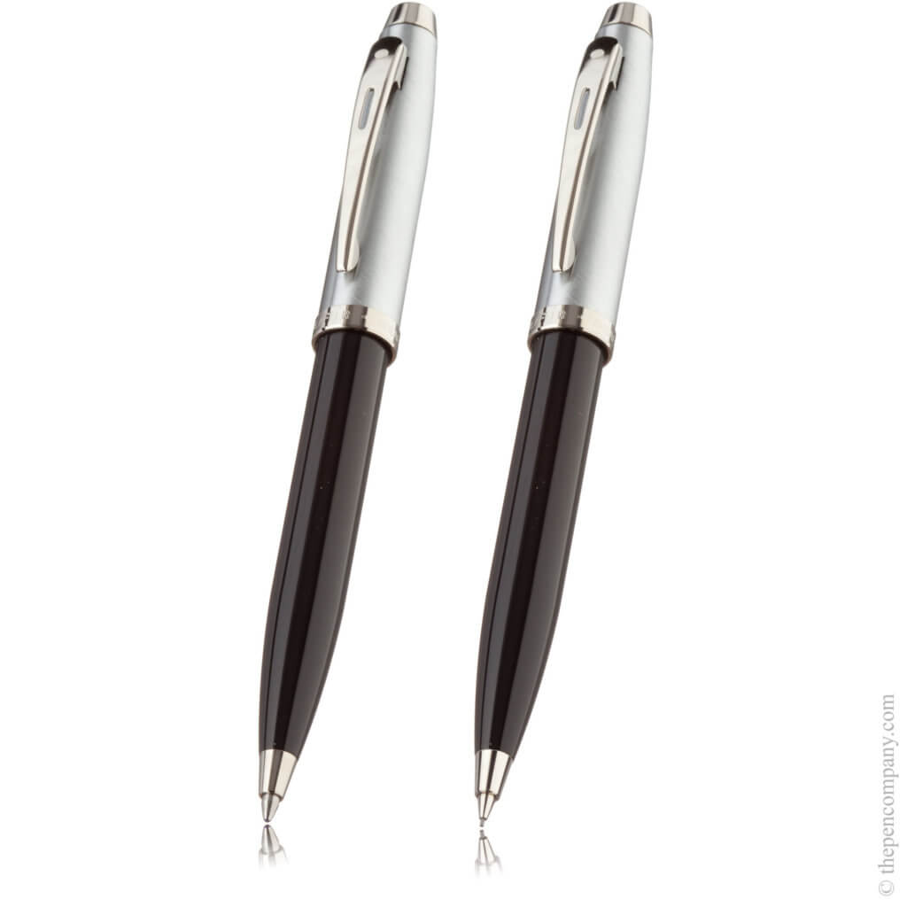Black Sheaffer 100 Chrome pen set