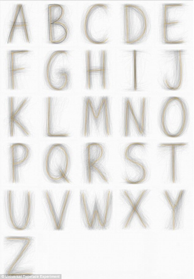Universal Typeface Experiment