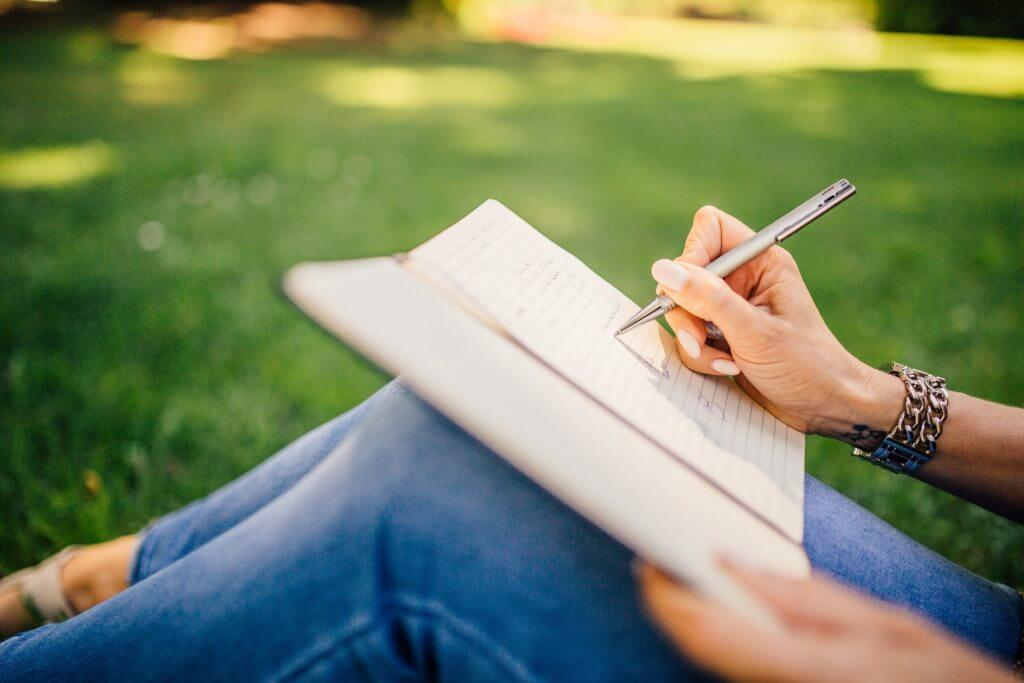 writing a novel outdoors