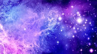 space in purple tones
